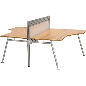Acclaim Double Sided Ergonomic Add On Desks With Screens £680 - Office Desks