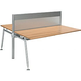 Acclaim Double Sided Rectangular Add On Desks With Screens £590 - Office Desks