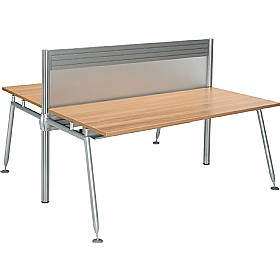 Acclaim Double Sided Rectangular Desks With Screens £898 - Office Desks