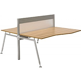 Acclaim Double Sided Wave Add On Desks With Screens £670 - Office Desks