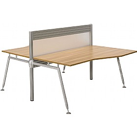 Acclaim Double Sided Wave Desks With Screens £978 - Office Desks