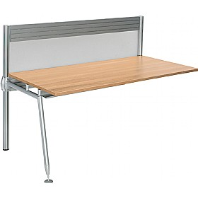 Acclaim Rectangular Add On Desks With Screens £408 - Office Desks