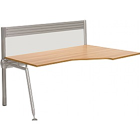 Acclaim Wave Add On Desk With Screens £481 - Office Desks