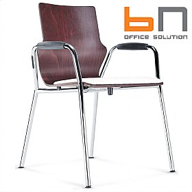BN Leather Padded Wooden Conversa Chair £141 - Bistro Furniture