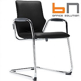 BN Leather Cantilever Conversa Chair £235 - Bistro Furniture