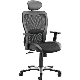 Aerial Mesh Office Chair With Headrest £138 - Office Chairs