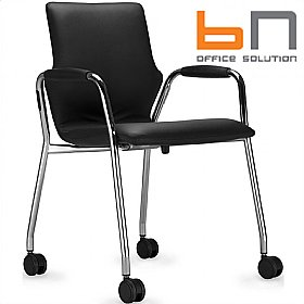 BN Mobile Leather Conversa Chair £172 - Office Chairs