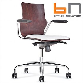 BN Leather Padded Wooden Conversa Task Chair £298 - Office Chairs