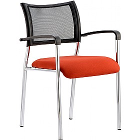 Victoria Colours Chrome Frame Chair £107 - Office Chairs