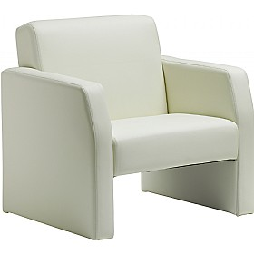 Rest Enviro Leather Armchair Ivory £200 - Reception Furniture