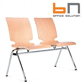BN Axo 2 Seater Wooden Beam Seating £153 - Office Chairs