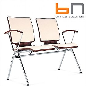 BN Axo 2 Seater Upholstered Beam Seating £200 - Office Chairs