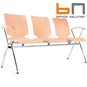 BN Axo 3 Seater Wooden Beam Seating £190 - Office Chairs