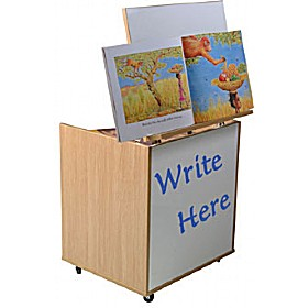 Mobile Big Book Easel With Whiteboard £0 - Education Furniture