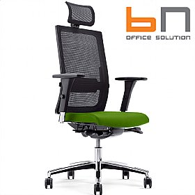 BN Mojito Mesh & Fabric Executive Chair With Headrest £404 - Office Chairs