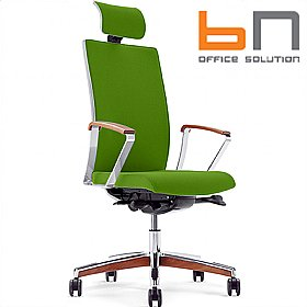 BN Mojito Premium Fabric Executive Chair With Headrest £522 - Office Chairs