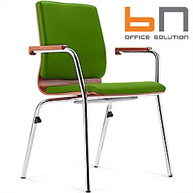 BN Mojito Upholstered Wooden Conference Chair £181 - Office Chairs
