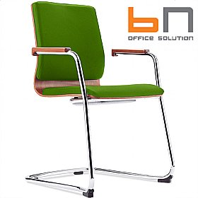 BN Mojito Fabric Cantilever Conference Chair £235 - Office Chairs