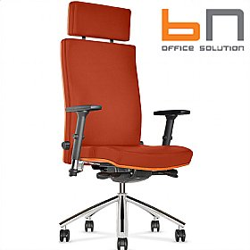 BN Diplomat Premium Fabric Executive Armchair With Headrest £386 - Office Chairs