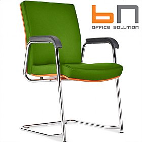 BN Diplomat Premium Fabric Cantilever Conference Chair £255 - Office Chairs