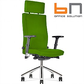 BN Diplomat Fabric Executive Armchair With Headrest £365 - Office Chairs