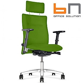 BN Kubik Fabric Executive Armchair With Headrest £351 - Office Chairs