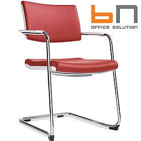 BN Belite Leather Cantilever Conference Chair £218 - Office Chairs