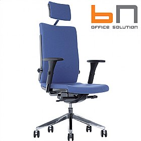 BN Belite Fabric Executive Chair With Headrest £324 - Office Chairs