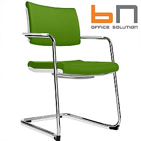 BN Belite Fabric Cantilever Conference Chair £189 - Office Chairs