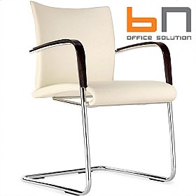 BN Carera Fabric Cantilever Chairs £227 - Bistro Furniture