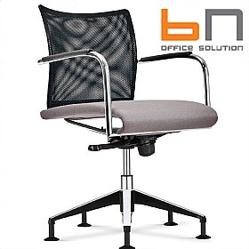 BN Carera Mesh & Fabric Swivel Conference Chair £357 - Office Chairs