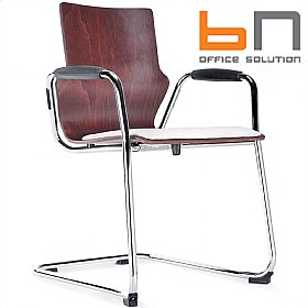 BN Conversa Upholstered Wooden Cantilever Chair £189 - Bistro Furniture