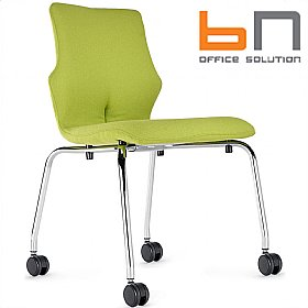BN Conversa Fully Upholstered Mobile 4-Leg Chair £147 - Office Chairs
