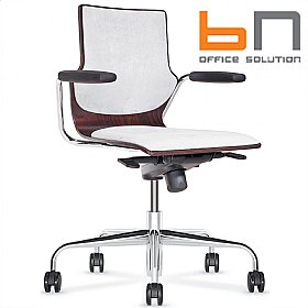 BN Conversa Upholstered Wooden Swivel Chair £294 - Office Chairs