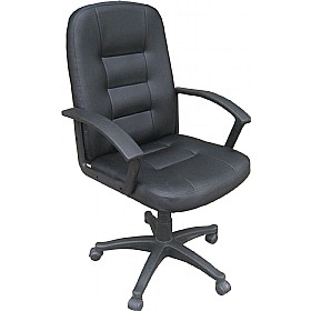 Preston Leather Look Manager Chair £66 - Office Chairs