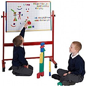 Coloured Frame Junior Mobile Tilting Whiteboard £130 - Display/Presentation