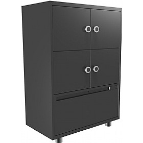 4 Person Vault With Lower File Drawer £1098 - Filing Cabinets