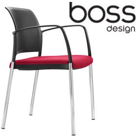 Boss Design Mars 4-Leg Visitor Chair £165 - Office Chairs