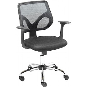 Solace Black Mesh Operator Chair £72 - Office Chairs