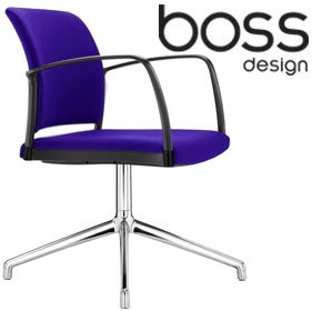 Boss Design Mars Swivel Visitor Chair £287 - Office Chairs