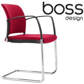 Boss Design Mars Cantilever Visitor Chair Fully Upholstered £241 - Office Chairs