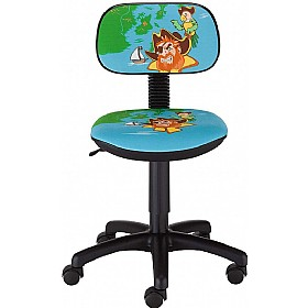 Cartoon Line Childrens Pirate Low Back Operator Chair £0 - Education Furniture