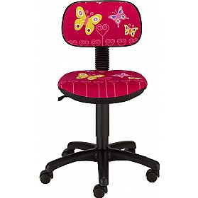 Cartoon Line Childrens Magic Butterfly Low Back Operator Chair £59 - Education Furniture