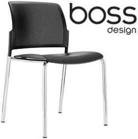 Boss Design Mars 4-Leg Polypropylene Chair £126 - Office Chairs