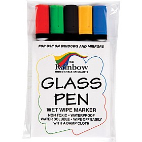 Glass and Blackboard Narrow Tip Coloured Marker Pens £0 - Display/Presentation