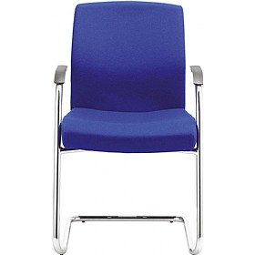 Class Medium Back Cantilever Visitor Chair With White Outer £351 - Office Chairs