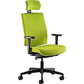 Opal Medium Back Task Chair With Upholstered Outer £291 - Office Chairs