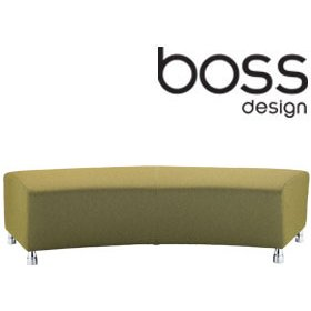 Boss Design Adda Curved 2 Seater Modular Reception Seat £897 - Reception Furniture