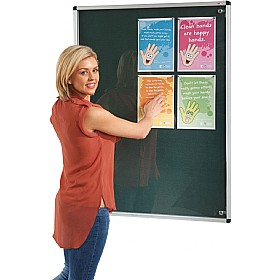 Tamperproof Noticeboard With Fire Retardant Cloth £94 - Display/Presentation