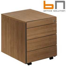 BN SQart Managerial Veneer 3 Drawer Mobile Pedestals With Pen Drawer £805 - Office Desks